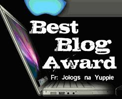 best blog award Award and Tag from Kak Nur & Defina