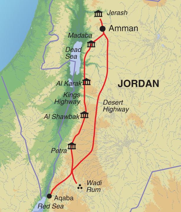 JORDAN MAP